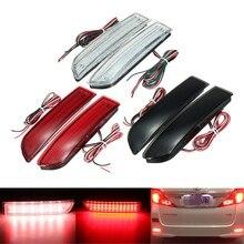 2x Car LED Tail Light Parking Brake Rear Bumper Reflector Lamp for Toyota Avensis/Alphard MK I/RAV4 Red Fog Stop Lights