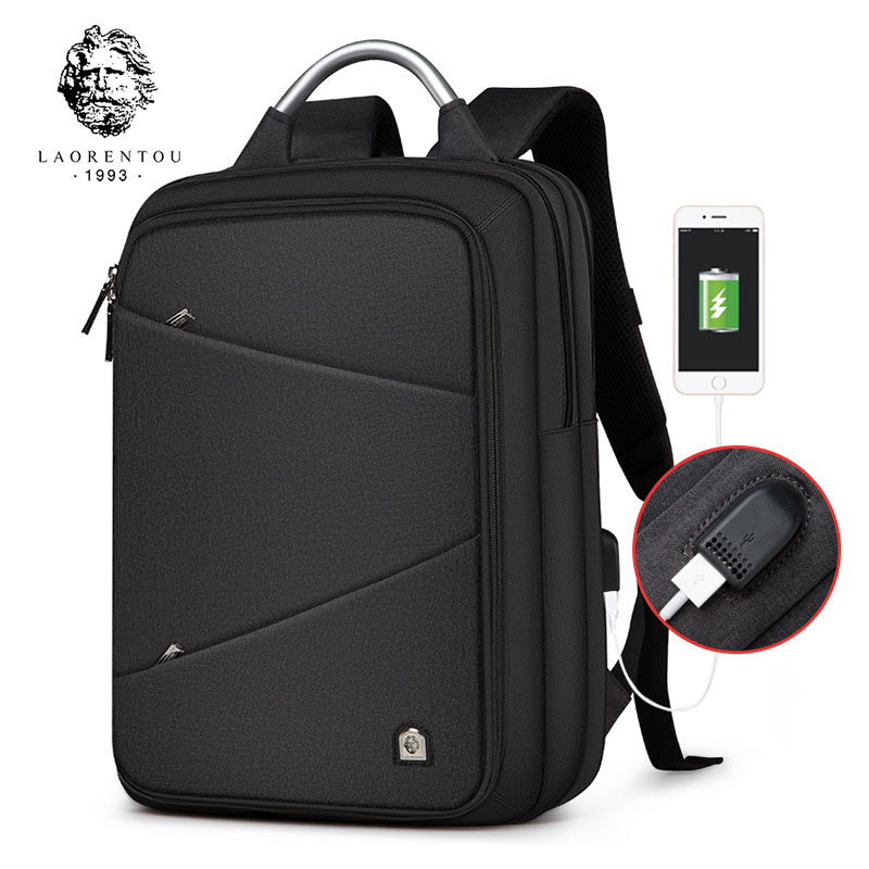 LAORENTOU Casual Men Backpack Women Backpack Travel Bag Multi-Functional School Backpacks For Teenagers & Student naruto write round eyes backpack fashion casual backpack teenagers men women s student school bags travel laptop bag