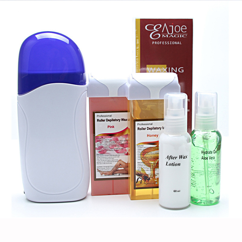 Wax Heater Painless Hair Removal Set Roll On Cartridge