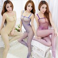 Encaje Sexy cuello mallas Body Stocking lencería Nets ropa interior atractiva del sexo trajes de malla mallas abertura entre las piernas Bodystocking para mujeres