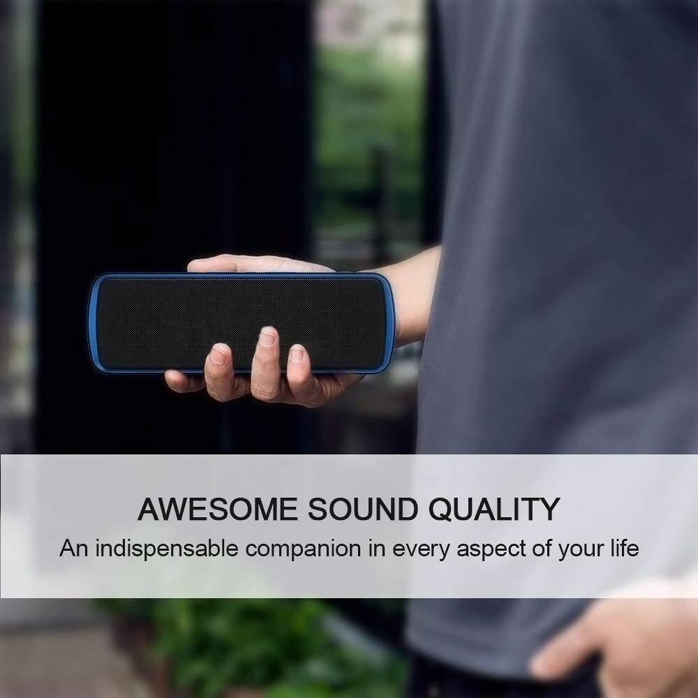 B10 Bluetooth Speaker Portable Wireless Column Loudspeaker 10W Enhanced Bass 3D Stereo Sound System Outdoor Model with Mic