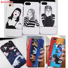 BotexBling personality girl cute dog Monsters hard Case Cover For iphone X 8 8plus 7 7plus 6 6s 6plus Cartoon Boy man Back Cover