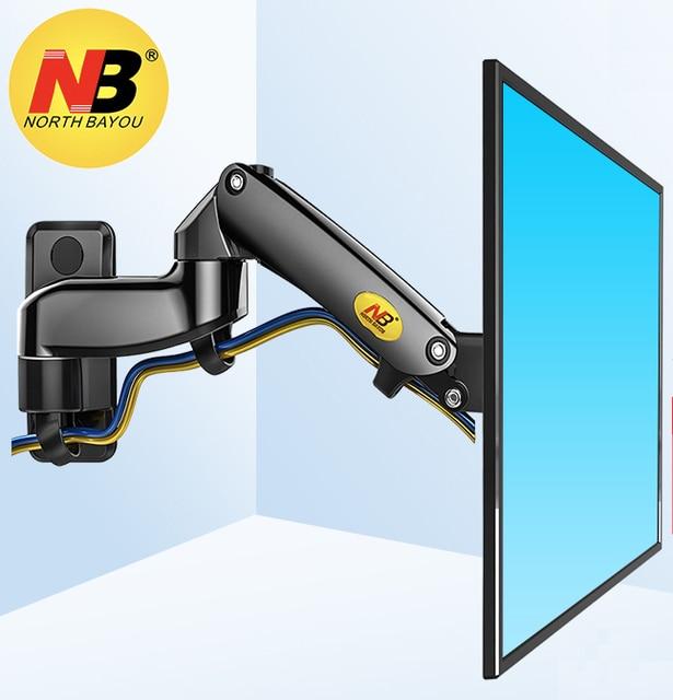 """NB F150 2-7kg 75x75 100x100 aluminium sprężyna gazowa 360 stopni obrót uchwyt do telewizora uchwyt podwójne ramię 17 """"-27"""" lcd podstawa monitora do montażu na"""
