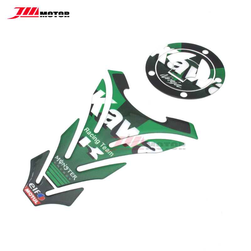 Fuel Tank Decal Pad Gas Cap Sticker Protector Fit For Kawasaki ZX-9R//6R//7R ZX10R