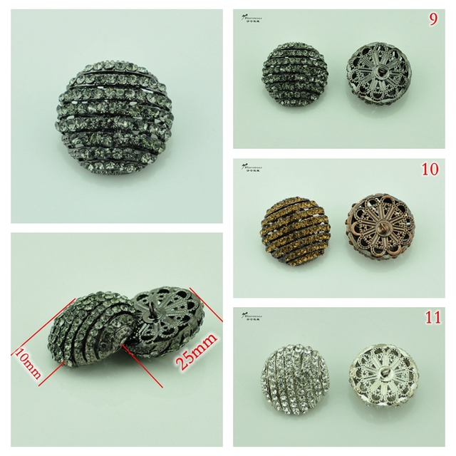 1c5165cd26 US $1.79 5% OFF|Free shipping Hi Q craft supplies metal rhinestone  embellishments sewing buttons for fur coats ,clothing ,wedding  accessories-in ...