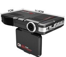 2 в 1 Multi-Функция STR8500 Видеорегистраторы для автомобилей Антирадары HD 720 P 120 градусов угол обзора камеры детектор Rada, английский и русский