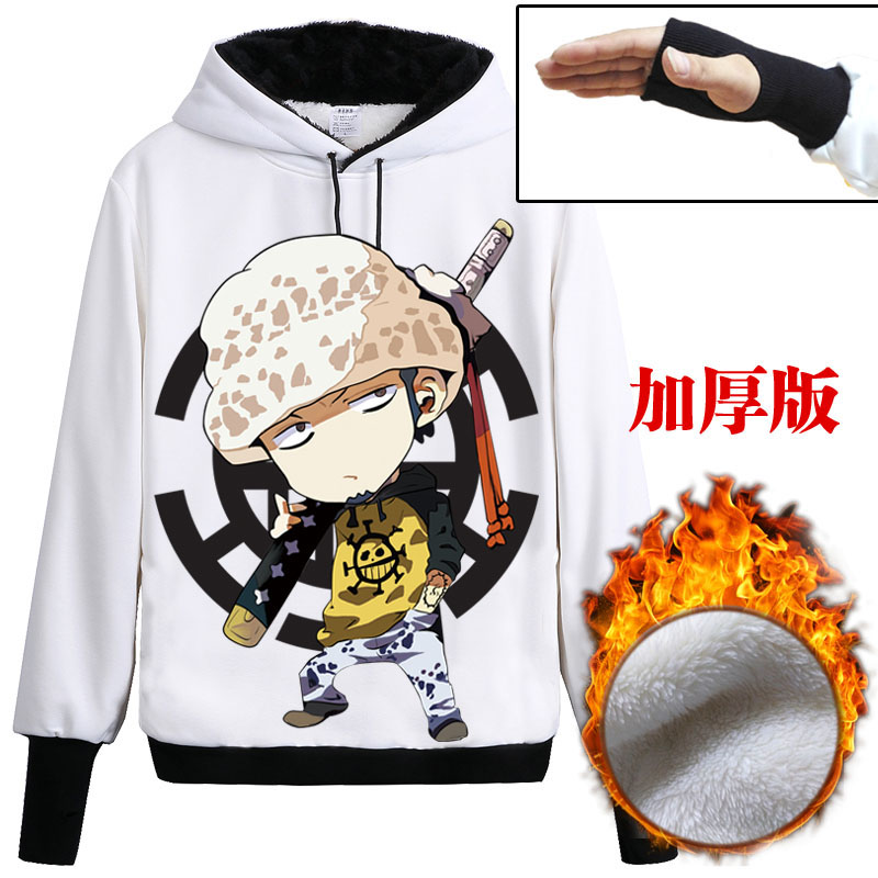 Free Shipping 2017 New Anime ONE PIECE Trafalgar Law Cosplay Hoodie Death Surgeon Clothes Unisex
