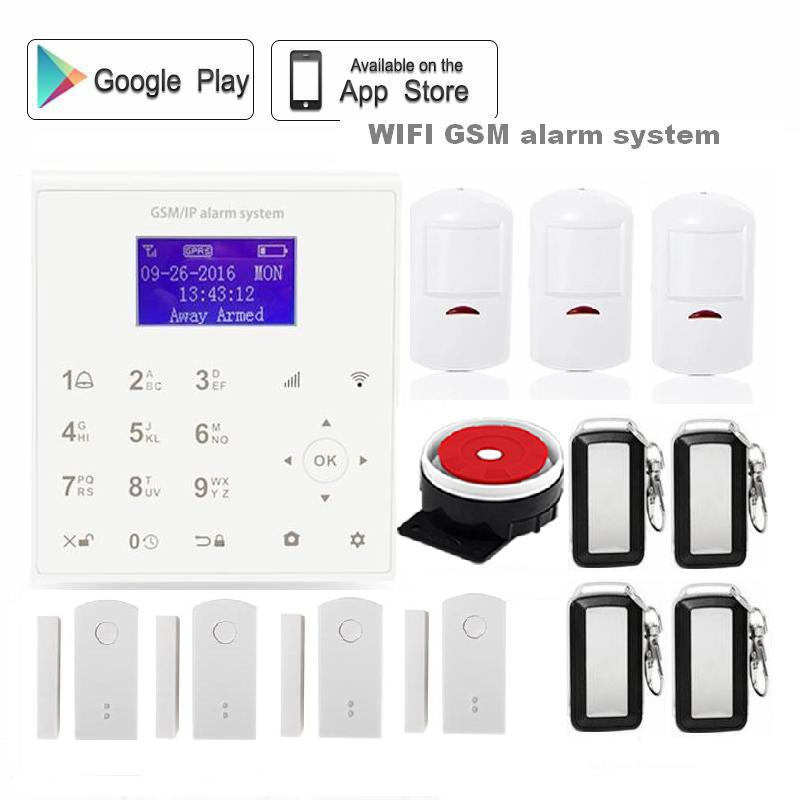 QOLELARM 433MHz Wireless wifi gsm gprs Home Alarm System Infrared PIR Detector Door Sensor Android/IOS APP Remote Control kerui w2 wifi gsm home burglar security alarm system ios android app control used with ip camera pir detector door sensor