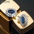 Новые серьги, кристалл серьги синий бабочка кусты, AAA циркон классический изящных ювелирных изделий