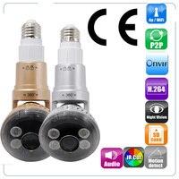 IB 183 HD 960 P P2P вращающийся WI FI светодиодный лампы IP Камера встроенный динамик для 2 способ Связь Поддержка ONVIF обнаружения движения WI FI
