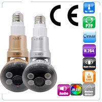 IB 183 HD 960P P2P Rotatable WIFI LED Bulb IP Camera Built in speaker for 2 way Communication Support ONVIF Motion Detect Wifi
