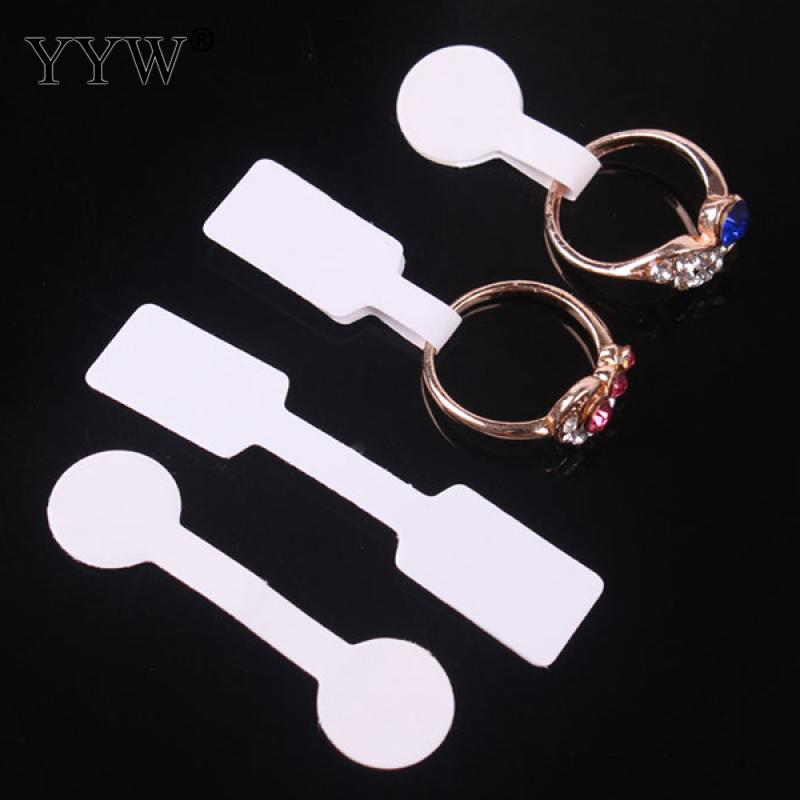 100pcs/lot Quadrate Paper Necklace Ring Hang Jewelry Price Labels Tags With Sticker
