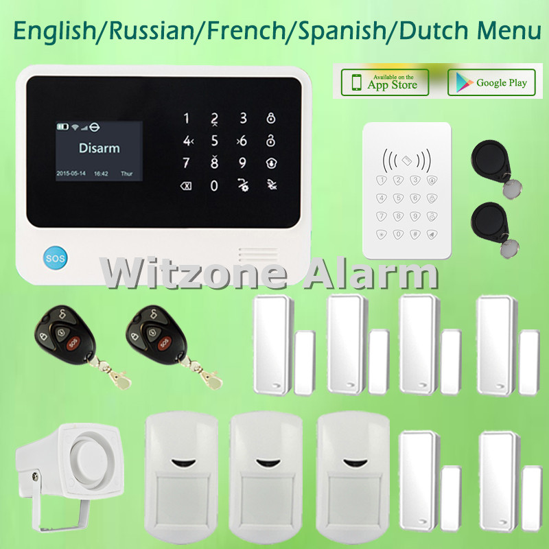 Newest Version GS-G90B Larger LCD Display Wireless Wifi GPRS GSM Home Security Alarm System with RFID Keypad and Tags джинсы мужские g star raw 604046 gs g star arc