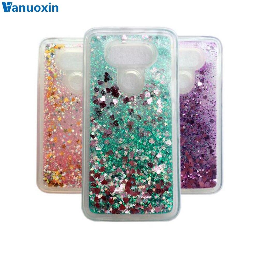 the latest cf37f f1655 Dynamic Love Heart Glitter Liquid Case sFor Funda LG G5 Case H830 H860  VS987 5.3 For Coque LG G6 H870DS H870 Soft TPU Phone Case