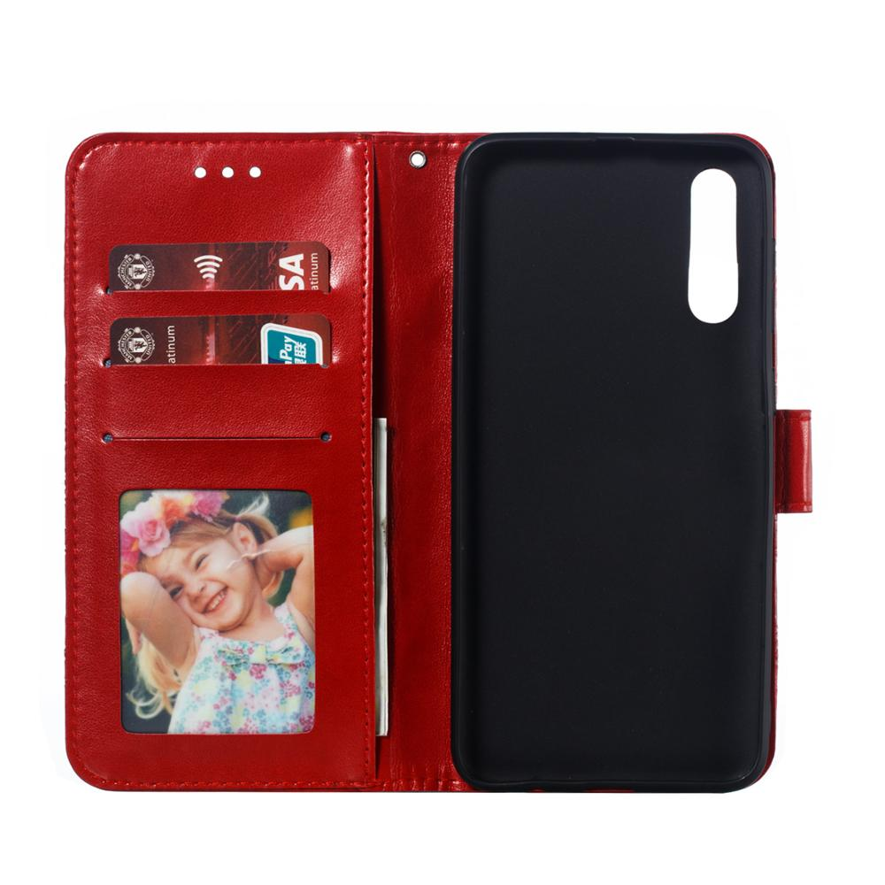 Sun Fower Emboss For Samsung Galaxy A2 A5 A6 Plus A7 A8S A9 A10 A20 A30 A40 A50 A60 A70 Case PU Flip Cover Mobile Phone Bag in Wallet Cases from Cellphones Telecommunications