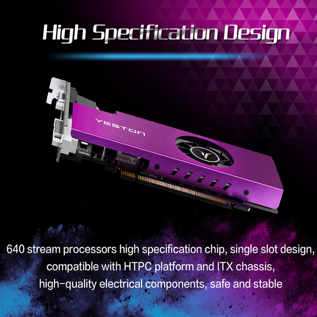 Yeston Radeon mini RX 550 GPU 4GB GDDR5 128bit Gaming Desktop computer PC Video Graphics Cards support VGA/DVI-D/HDMI PCI-E 3.0 4