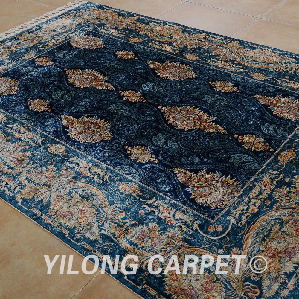 Yilong 5.6'x8 'Αντίκα χειροποίητο περσικό - Αρχική υφάσματα - Φωτογραφία 3