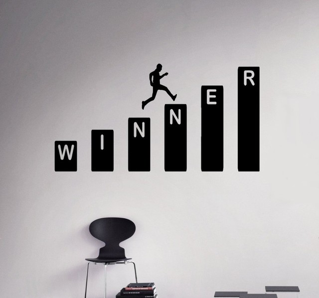 Winner Business Growth Vinyl Wall Decals Stickers Home Design Home Decor  Office Wall Decor Interior Mural