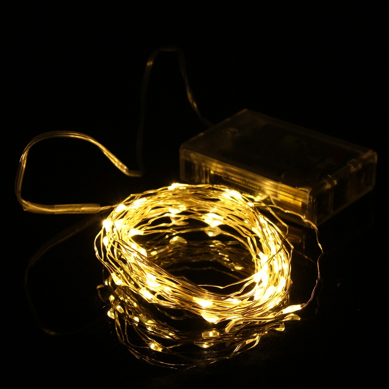 Battery Operated Led String Lights Warm White : Best Price 5M 50 LED String Fairy Light Battery Operated Christmas Party Home Decoration Warm ...