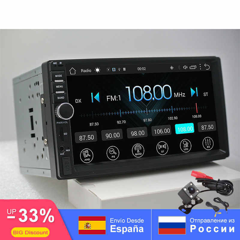 2din android car radio auto bluetooth doble din multimedia universal GPS WIFI FM 1024*600 dab para Nissan Toyota Volkswage SW
