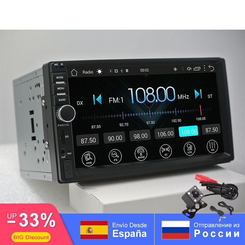 2din android rádio do carro auto bluetooth duplo din multimídia universal gps wifi fm am 1024*600 dab para nissan toyota volkswagen sw