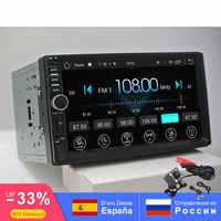2din carro android rádio auto bluetooth multimídia double din universal GPS WIFI FM AM 1024*600 dab para Nissan toyota Volkswage SW