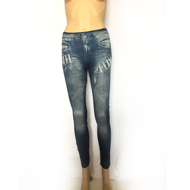New Women Denim Leggings Pants Spring Thin Denim Jeans Fashion Pleated  Stretch Slim Pants
