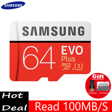 SAMSUNG Micro SD card 32gb 64gb 128gb 256gb Class10 TF card EVO Flash 100Mb/s memory card for samrtphone table PC Free shipping