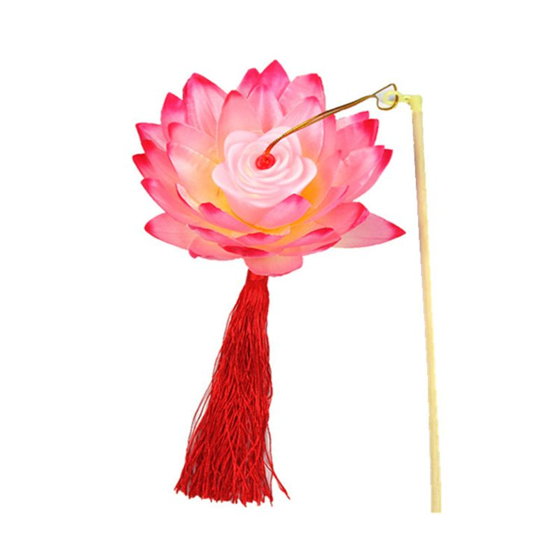 Portable Amazing Blossom Lotus Flower Light Lamp Party Glowing Lanterns For Mid-Autumn Festival Gift Dancing Props