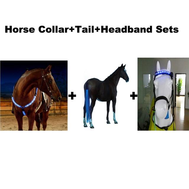 קישור מיוחד LED סוס חזה צווארון + סוס זנב + סרט סטי לdropshipper
