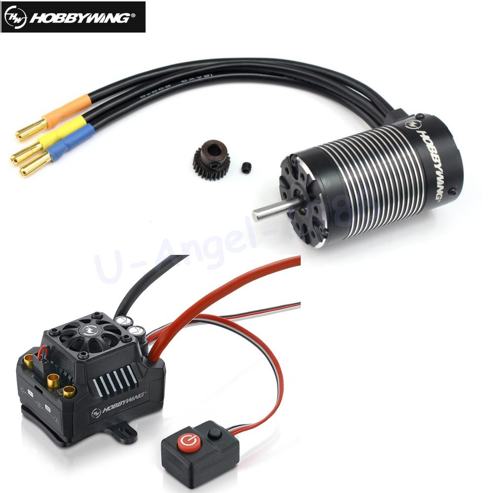 Oyuncaklar ve Hobi Ürünleri'ten Parçalar ve Aksesuarlar'de 2 adet Orijinal Hobbywing EZRUN MAX10 SCT 120A Fırçasız ESC + 3660 G2 3200KV/4000KV/4600KV Sensörsüz Motor set 1/10 RC Araba için'da  Grup 1