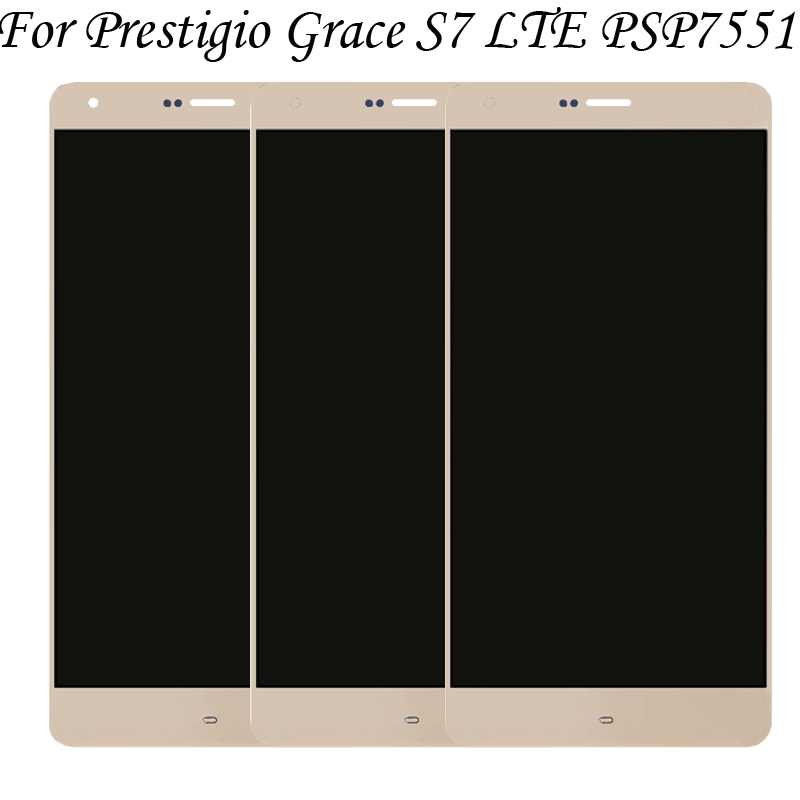 100%Tested OK For Prestigio Grace S7 LTE PSP7551 psp 7551 Duo psp7551Duo LCD Display + Touch Screen Digitizer Assembly