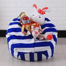 Creative Modern Storage Stuffed Animal Storage Bean Bag Chair Portable Kids Clothes Toy Storage Bags