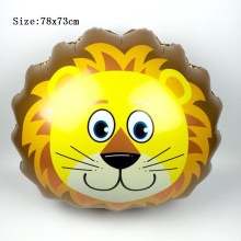 Inflatable Lion Balon Anak Anak-anak Bayi 1st Birthday Dekorasi Balon Pesta Kartun Hewan Kepala Balon Ballon Mainan(China)