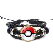 Selling Bracelet Pokemon Go Elf Ball Time Gemstone Braided Jewelry Anime Accessories