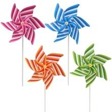 Полосатый ветряная мельница, ветряная вертушка, украшение для дома, сада, двора, детские игрушки