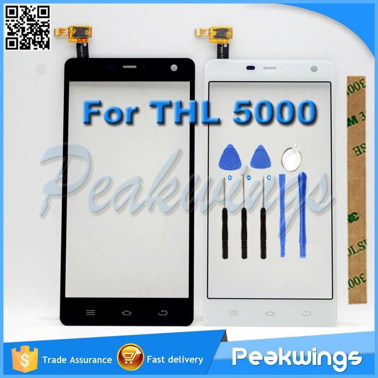 "imágenes para 5.0 ""pulgadas de pantalla Táctil Para THL 5000 Touch Pantalla Digitalizador Reemplazo de Cristal Del Panel Negro con 3 M Adhesivo"