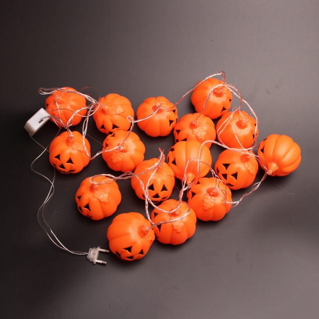 16pcsset halloween mini pumpkins led lights outdoor led light 16pcsset halloween mini pumpkins led lights outdoor led light string pumpkin lamp lights party aloadofball Image collections