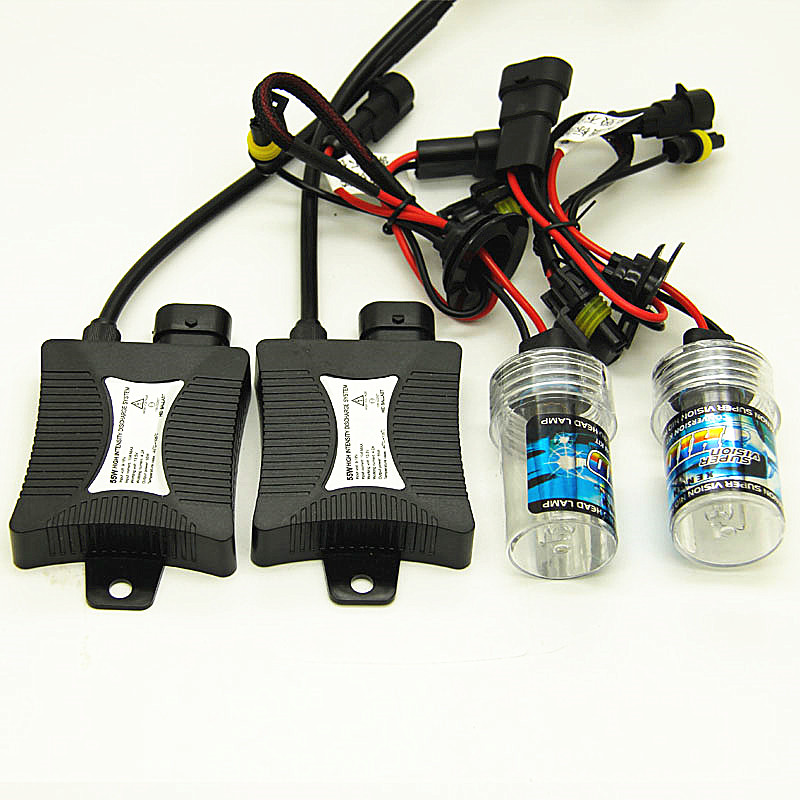 DC 12V Xenon H1 Hid Kit 55W H7 H3 Xenon H7 H8 H10 H11 H27 HB3 HB4 9005 9006 Car Light Source Xenon
