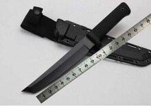 Бесплатная доставка олово покрытием Recon Tanto 13RTK 7Cr15Mov титанирования холодной стали прямые ножи Фиксированным лезвием ножа ABS KYDEX Оболочка