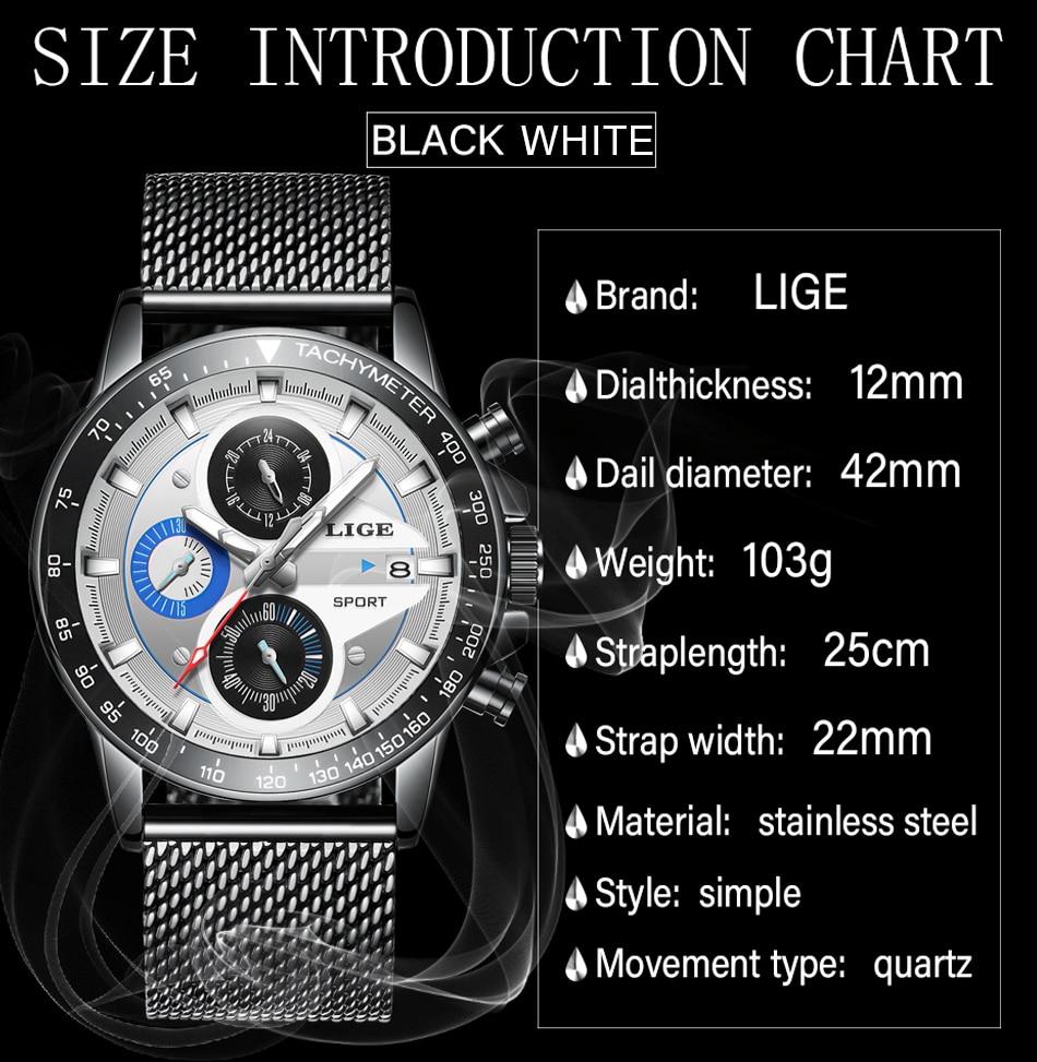 HTB1d1BEQAzoK1RjSZFlq6yi4VXag LIGE Fashion Men Watches Male Creative Business Chronograph Quartz Clock Stainless Steel Waterproof Watch Men Relogio Masculino