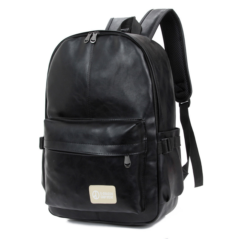 2018 Men PU Patent Leather Backpacks Mens Fashion Backpack & Travel Bags Western College Style Bags Mochila Feminina