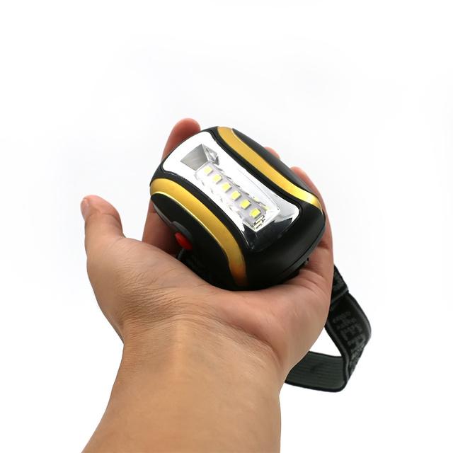 Portable Mini 6 LED Headlamp 3 modes Beam light 3*AAA Headlight Lantern Head Lamp Torch for Outdoor Lighting With Headband