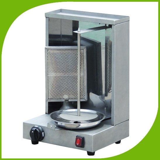 High qualiy LPG gas doner shawarma machine, propane gyros bbq kebab grill, gas vertical broiler machine factory wholesale