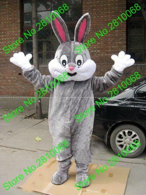 Eva Material Helmet Super Soft Fabric Gray Rabbit Mascot Costumes Unisex Cartoon Apparel Cosplay 161