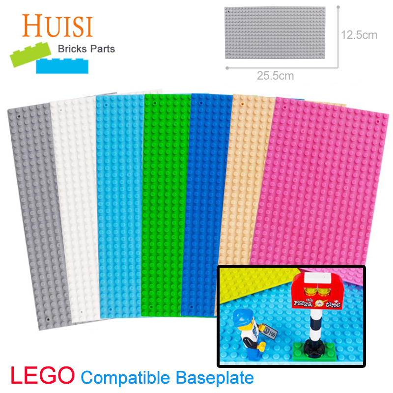 2pcs/lot Kids DIY Toys Educational Building Blocks Plates 32x16 Anime Action Figures Floors Learning Toys Compatible With Legoe