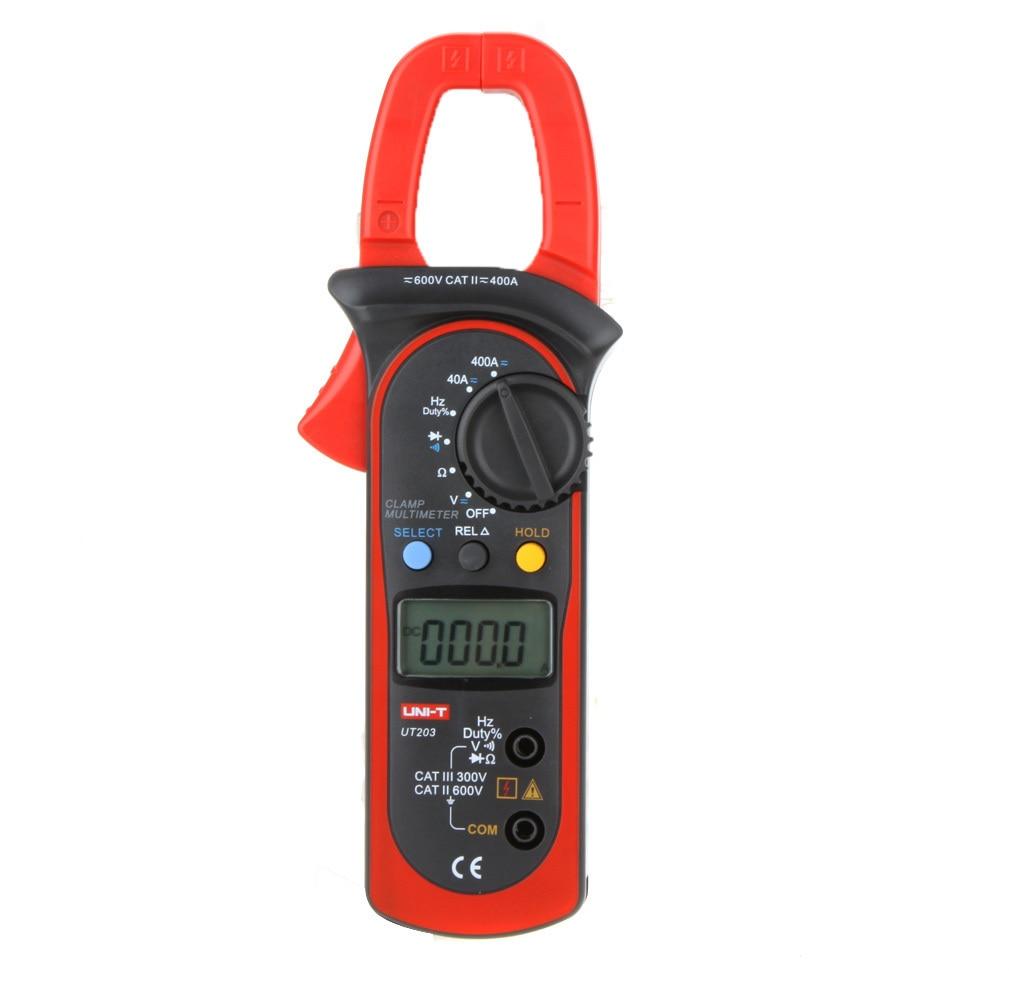 UT203 Amperometric Clamp Meter Voltmeter AC/DC Current Pliers Digital Multimeter ESR Resistance Frequency Voltage Tester