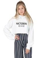 Sugarbaby Nctzen Crop Hoody Hoodie Top Fashion K pop Nct Fandom Taeyong Cropped Hoodie Long Sleeve Tumblr Hoody Casual Tops
