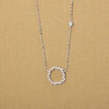 DreamySky gorąca sprzedaży czyste srebro kolorowe cyrkonie koło naszyjniki dla kobiet biżuteria kołnierz Colar darmowa wysyłka
