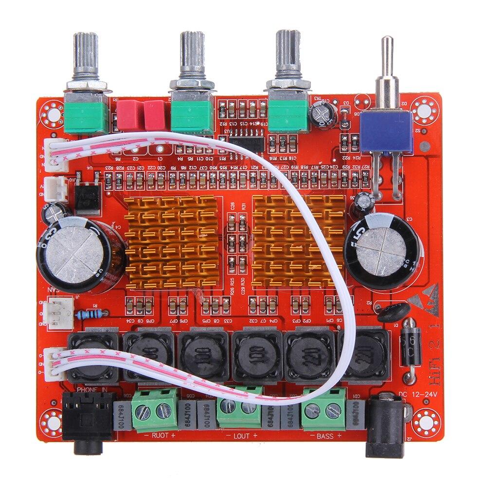 TPA3116D2 2 1 12v 50Wx2 100W HIFI Digital font b Subwoofer b font font b Amplifier
